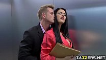 Peta Jensen sucks Bill Baileys big cock deep th...