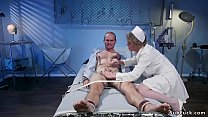 Milf nurse gives dick torment to patient