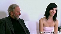 Old Goes Young - Alisa gets to learn how top suck cock properly from her old guy - 9Club.Top