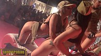 Beauty pornstars hot dance on stage