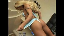 Perfect little blond fox Kylie Wild strips and squirts