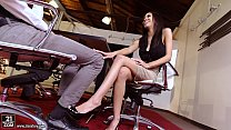 Amazing Footjob in the office - Shay Evans Preview