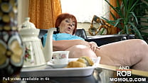Delivery Guy Gets to Plow Redhead BBW GILF Marsha