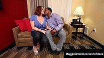 Mega Melons Maggie Green Takes Big Black Cock R...
