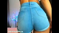 Dancing Around in Booty Shorts and Stuff. Would you like me to take off my shorts and sit on your face? صورة