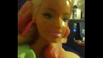 Barbie gets facialed by small dick