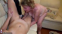 OldNanny Fat mature and young pretty girl is enjoying thumbnail