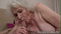 Gray haired grandmother gobbles for cum صورة