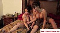 Brandi Mae and Ava Devine play with toys pornhub video