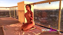 Oiled Up Rahyndee James Solo Masturbation on Balcony. preview image