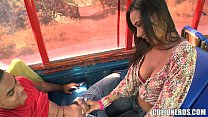 Sexy Latina Amateur on Bus