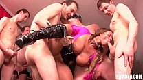 Busty german whore take cocks in gangbang