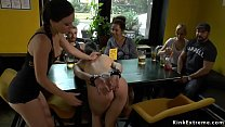 Euro beauty anal banged in public bar pornhub video