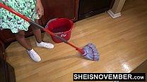 Sheisnovember Topless Mopping In Kitchen & Upskirt Ebony Ass & Big Natural Tits thumbnail