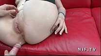 Amateur french maturewith small tits anal pounded outdoor on a sofa