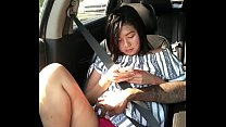 Cash plays with Layla in Car - 9Club.Top