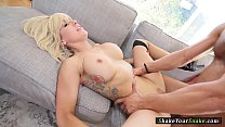Bigtitted milf deepthroating before sex