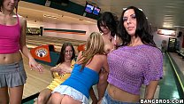 Rachel Starr and Sluts at bowling alley