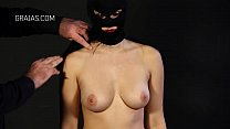 Masked girl stripped image