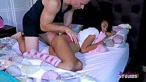 Ebony hottie Ariana Aimes fucked by her stepdaddy (part 4)