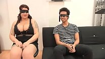 A BLIND DATE with Sandra, a 21 years old ENORMOUSLY TITTED gal thumbnail