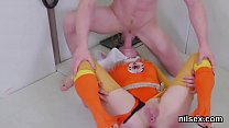 Kinky nympho is taken in anal hole asylum for harsh therapy
