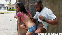 Gorgeous babe BBC fucked in broad daylight in public