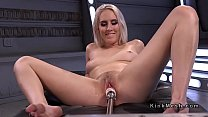 All natural blonde spread legs for fucking machine thumbnail