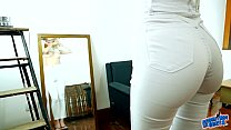 Incredible Ass and Tight Gap with a Huge Pussy on Skinny Blonde! video