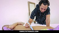 FamilyStrokes- Step Brother and Sister Sneak Fuck Next to MOM thumbnail