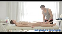 Brunette massage ends in anal