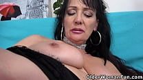 Slutacious Mature Alex Works Her Pussy With Fin
