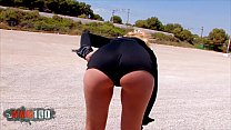 Amazing perfect blonde cop brutal ass fucking at the beach thumbnail