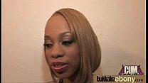 Interracial bukkake sex with black porn star 20