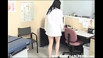 Wet panty licking at the doctor's office
