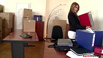 Hardcore fuck at the new office with delivery guy makes Hanna Montada cum image