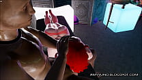 3D Virtual Redhead Rides A BBC Anal In Adult MMO Game!