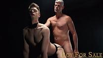 BoyForSale - sexy dad bareback fucks young hung son in jockstrap