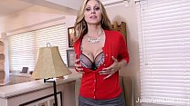 Hot Milf Julia Ann Masturbates with Big Dildo!