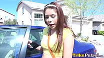 Cock Crazy Filipina-American teen Sami Parker swallows jizz