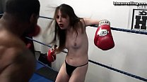 Black Male Boxing BEAST vs Tiny White Girl Ryona