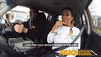Fake Driving School Busty gym bunny big tits bo...