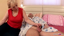 Curvy Mom wake up Step Son with BJ and get Rough Anal Sex