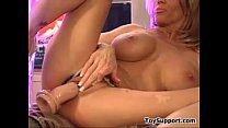 Busty MILF Masturbates With Her Dildo