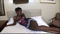 Ebony teen amateur fucks white dick in Black Pu...