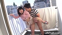 JAVHUB Japanese Teen Fucked From Behind On The