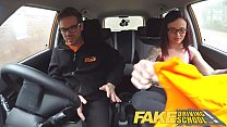 Fake Driving School American Teen Creampied by British Instructor Image