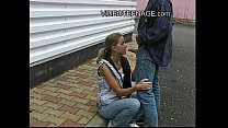 blond teen outdoor blowjob thumbnail