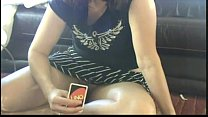 my another real sister showing pussy to me while playing cards at home
