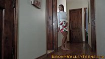Ebony Teen Takes Facial